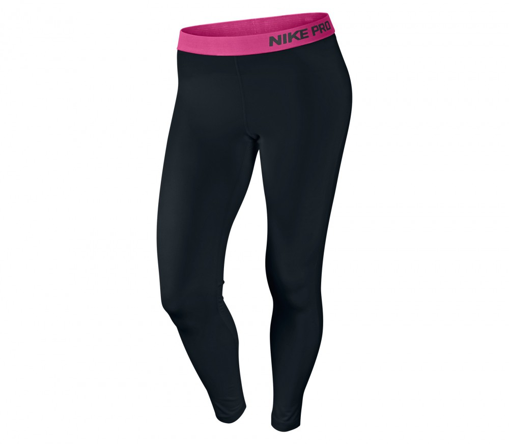 nike pro tight damen trainingshose schwarz pink im. Black Bedroom Furniture Sets. Home Design Ideas
