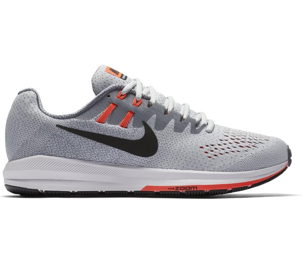 Nike - Air Zoom Structure 20 Herren Laufschuh (grau/rot)