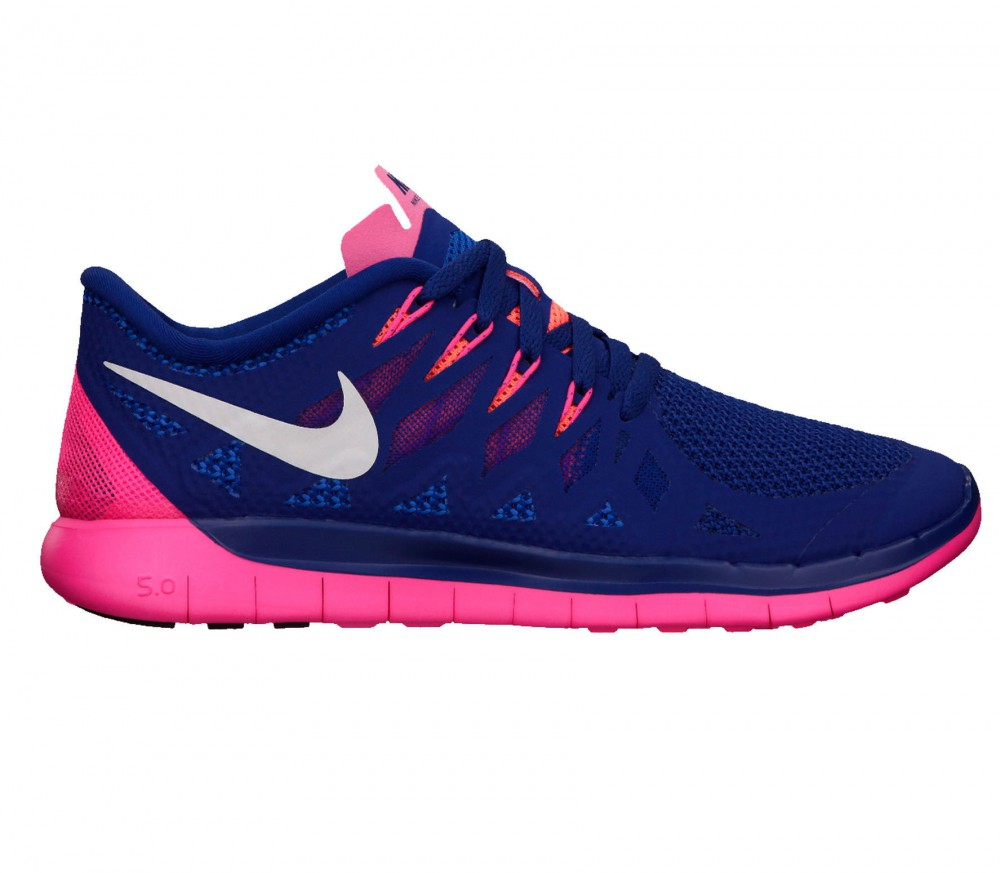 Nike - Free 5.0 Damen Laufschuh (blau/pink)