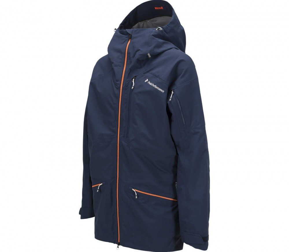 Peak Performance - Radical Herren 3-Lagen Skijacke (dunkelblau/orange)