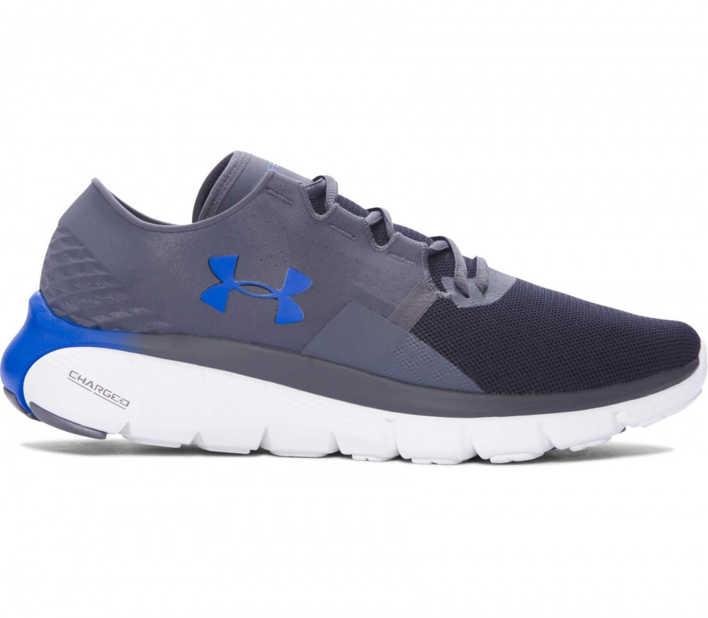 Under Armour - Speedform Fortis 2.1 Herren Laufschuh (grau/blau)