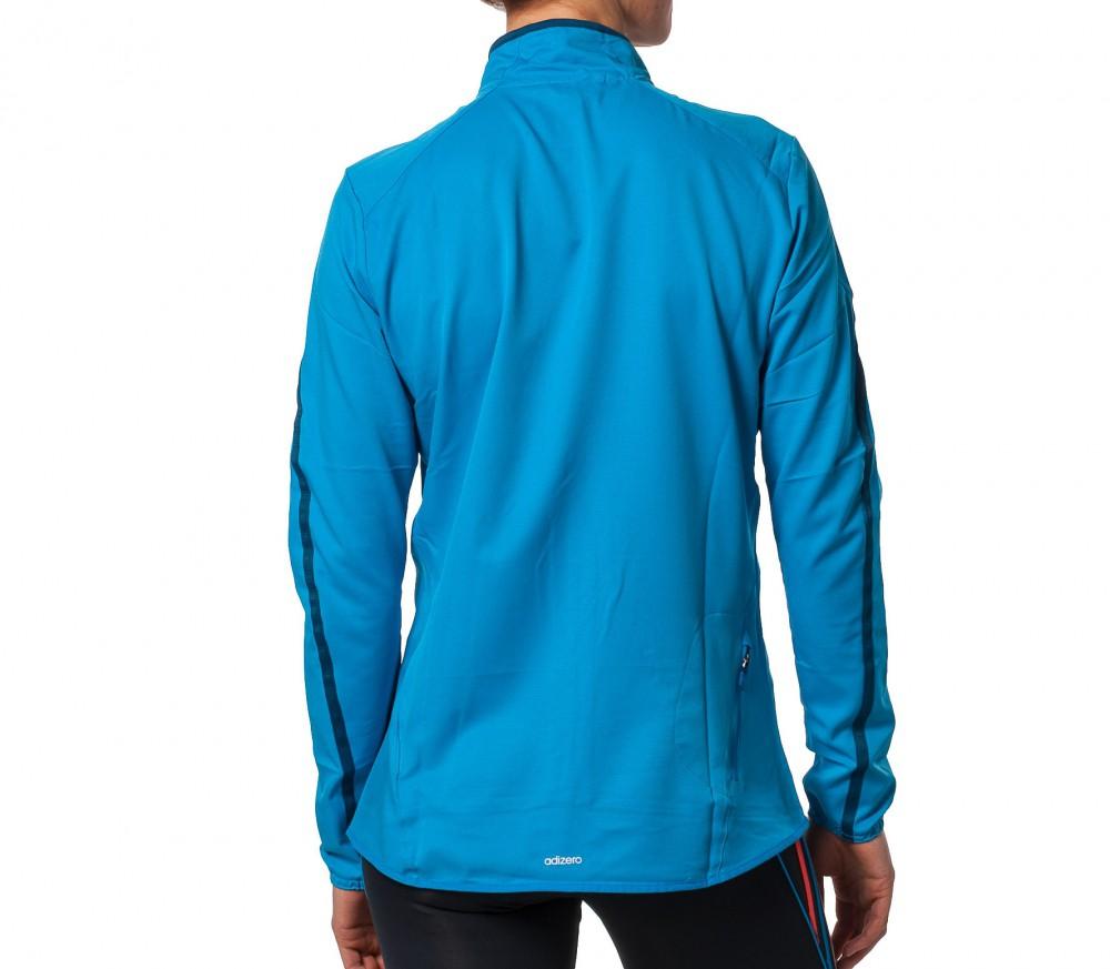 adidas adizero slim track jacket damen blau im online. Black Bedroom Furniture Sets. Home Design Ideas