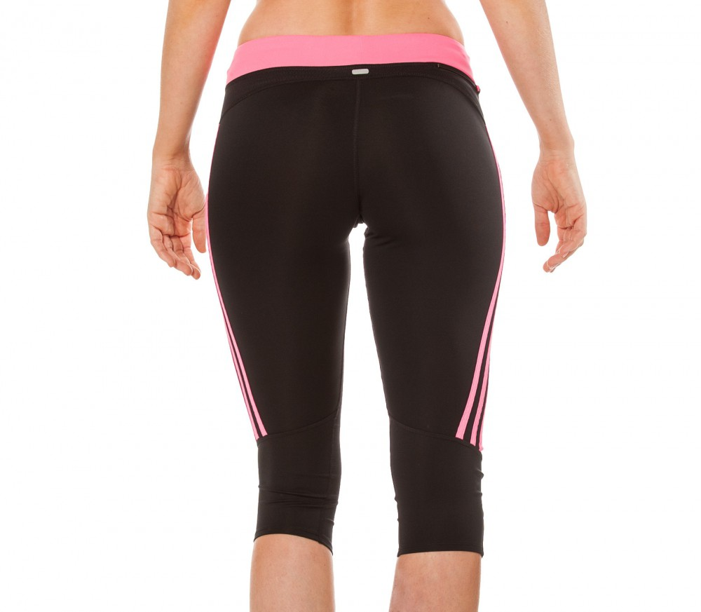 adidas response 3 4 tights damen laufhose schwarz pink. Black Bedroom Furniture Sets. Home Design Ideas