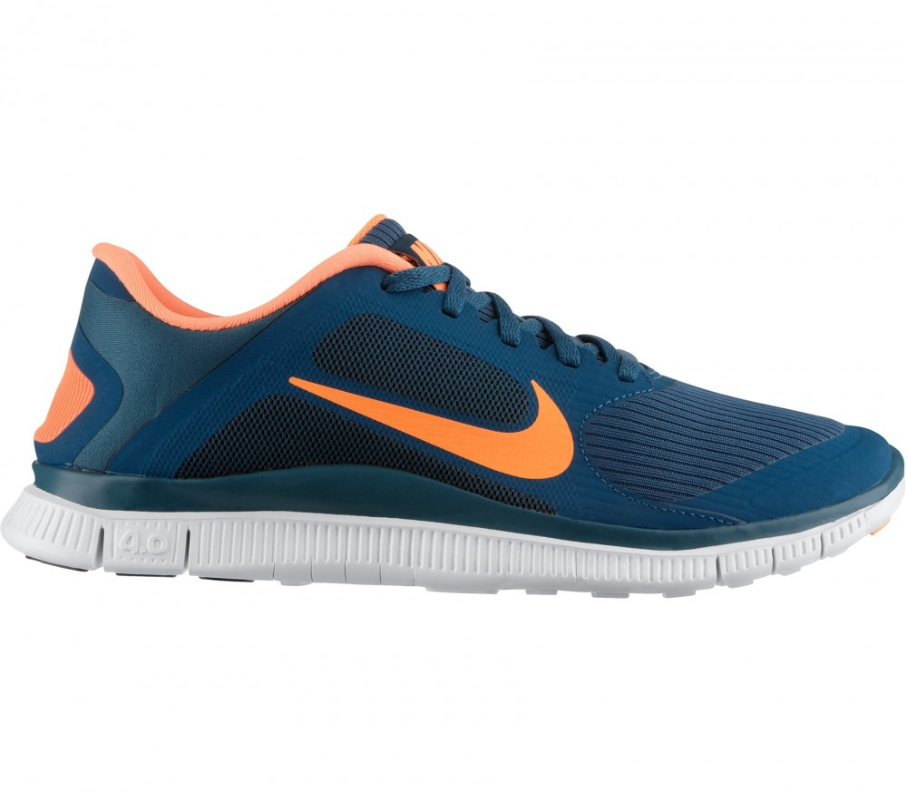 nike free 4 0 v3 herren laufschuh blau orange im. Black Bedroom Furniture Sets. Home Design Ideas