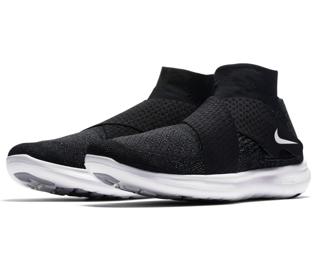 Nike - Free RN Motion Flyknit 2017 Damen Laufschuh (schwarz/weiß)