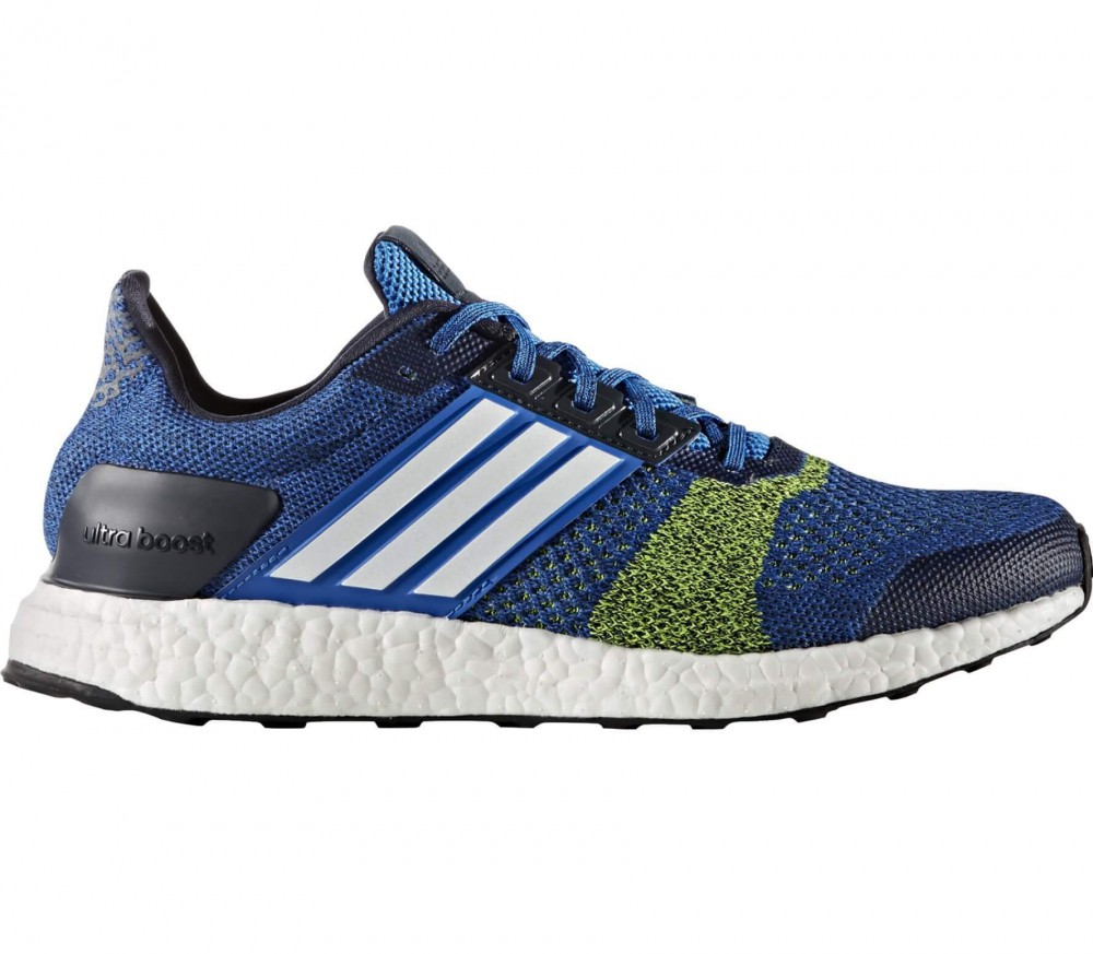 adidas ultra boost st herren laufschuh blau gelb im online shop von keller sports kaufen. Black Bedroom Furniture Sets. Home Design Ideas