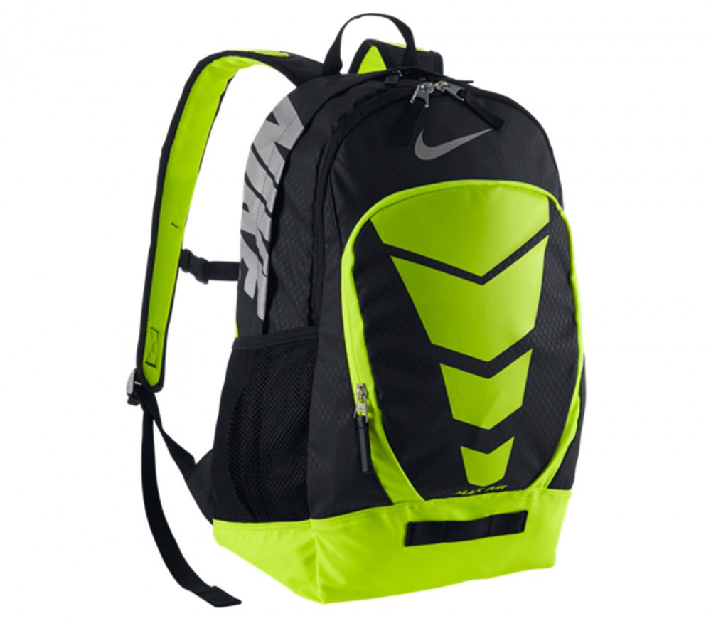 nike max air vapor rucksack schwarz gr n im online. Black Bedroom Furniture Sets. Home Design Ideas