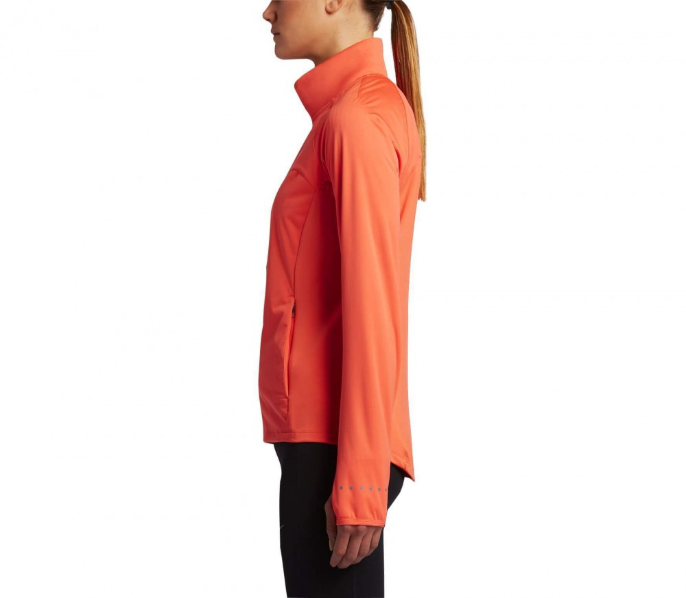Nike - Shield Full-Zip Damen Laufjacke (orange)