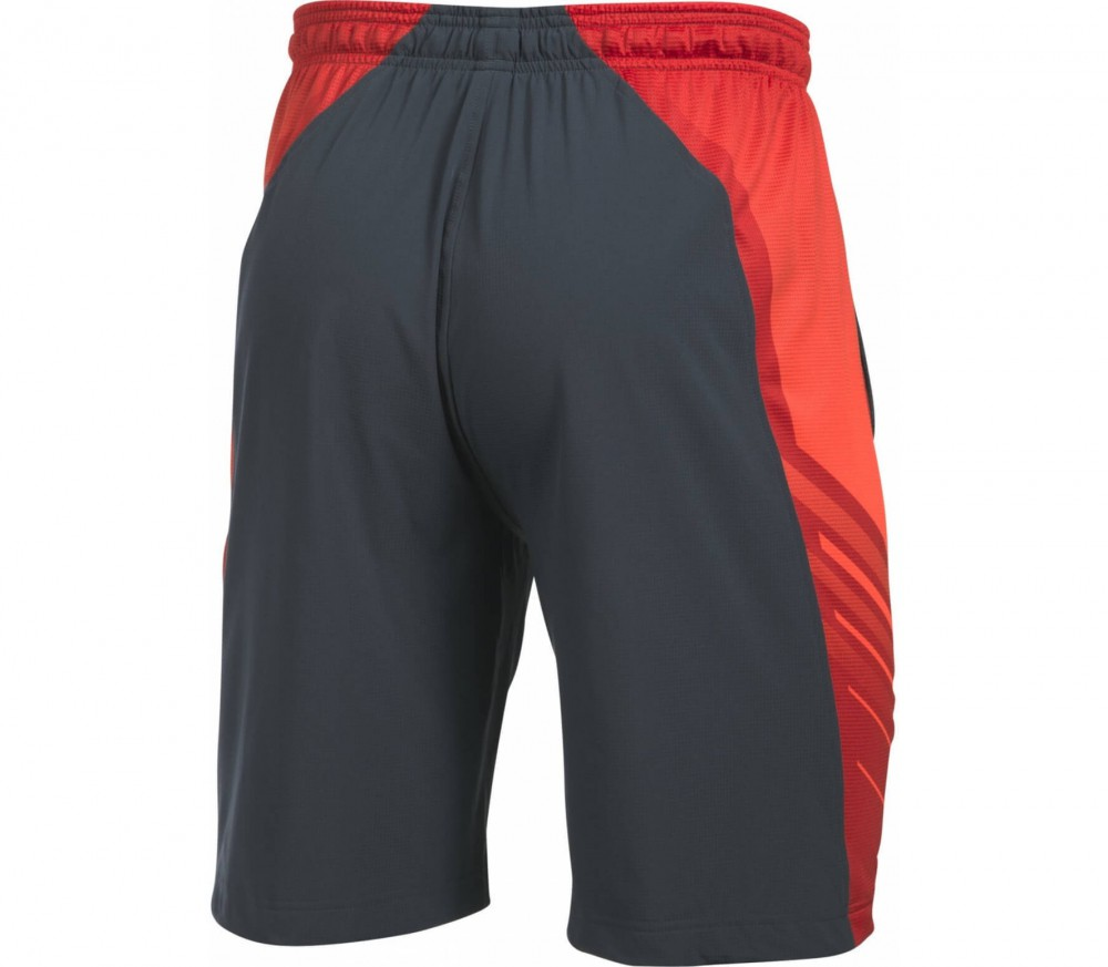Under Armour - Supervent Woven Herren Trainingsshort (grau/orange)