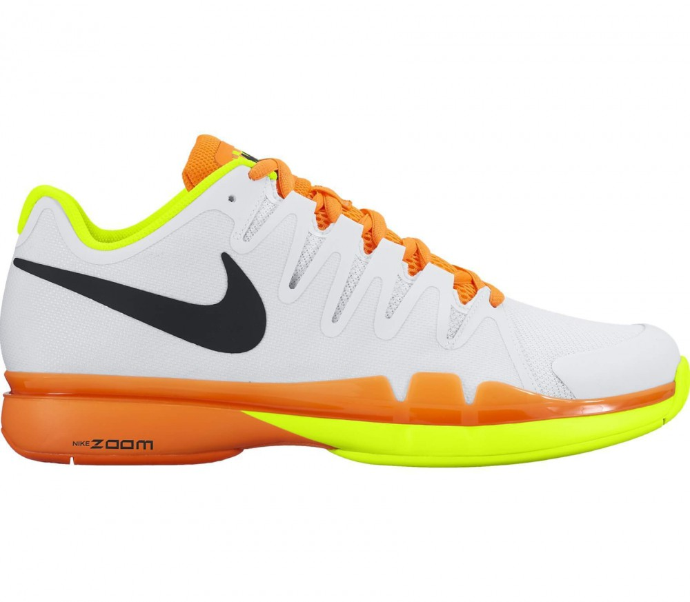 Nike - Zoom Vapor 9.5 Tour Junior Tennisschuh (weiß/orange)