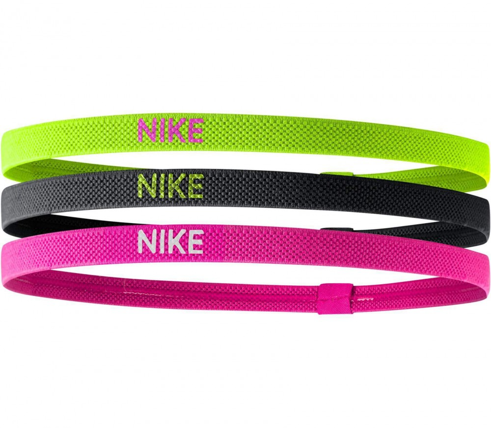 Nike - Elastic Hairbands 3er Pack (pink/hellgrün)