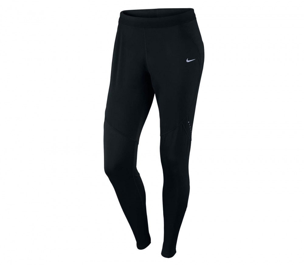 Nike - Shield Tight Damen Laufhose (schwarz)