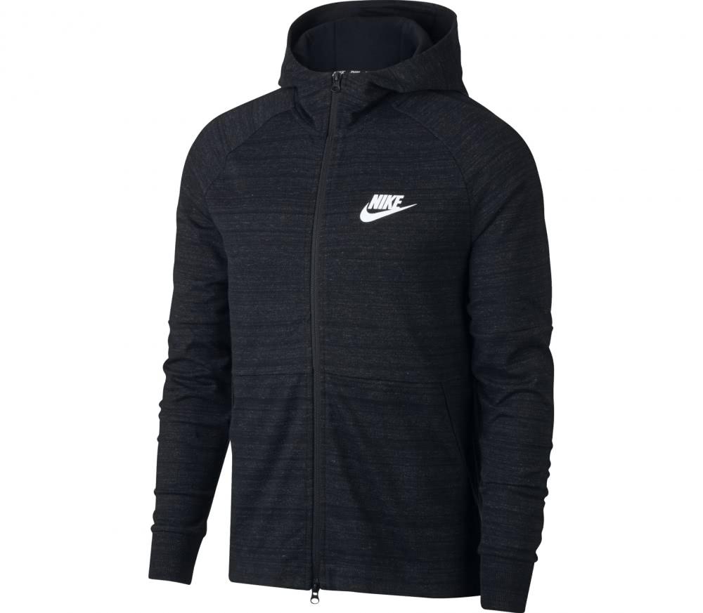 nike sportswear advance 15 herren hoodie schwarz im. Black Bedroom Furniture Sets. Home Design Ideas