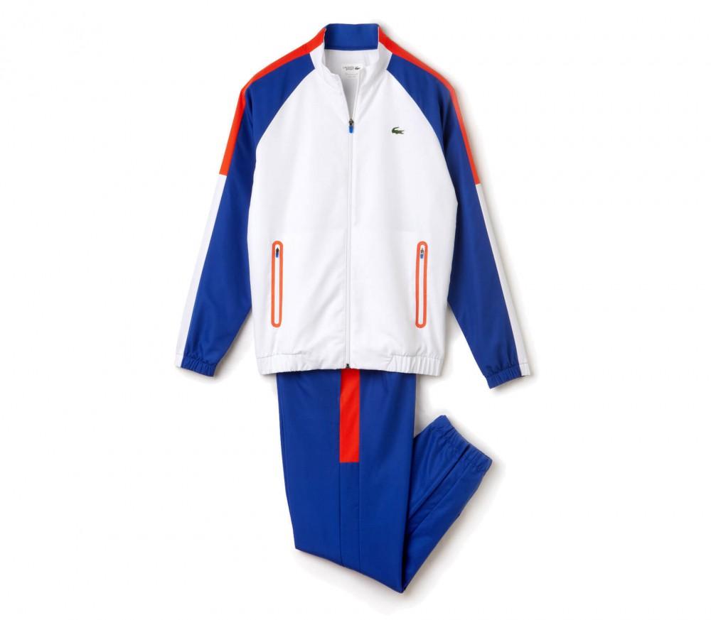 lacoste herren tennis trainingsanzug wei blau im. Black Bedroom Furniture Sets. Home Design Ideas
