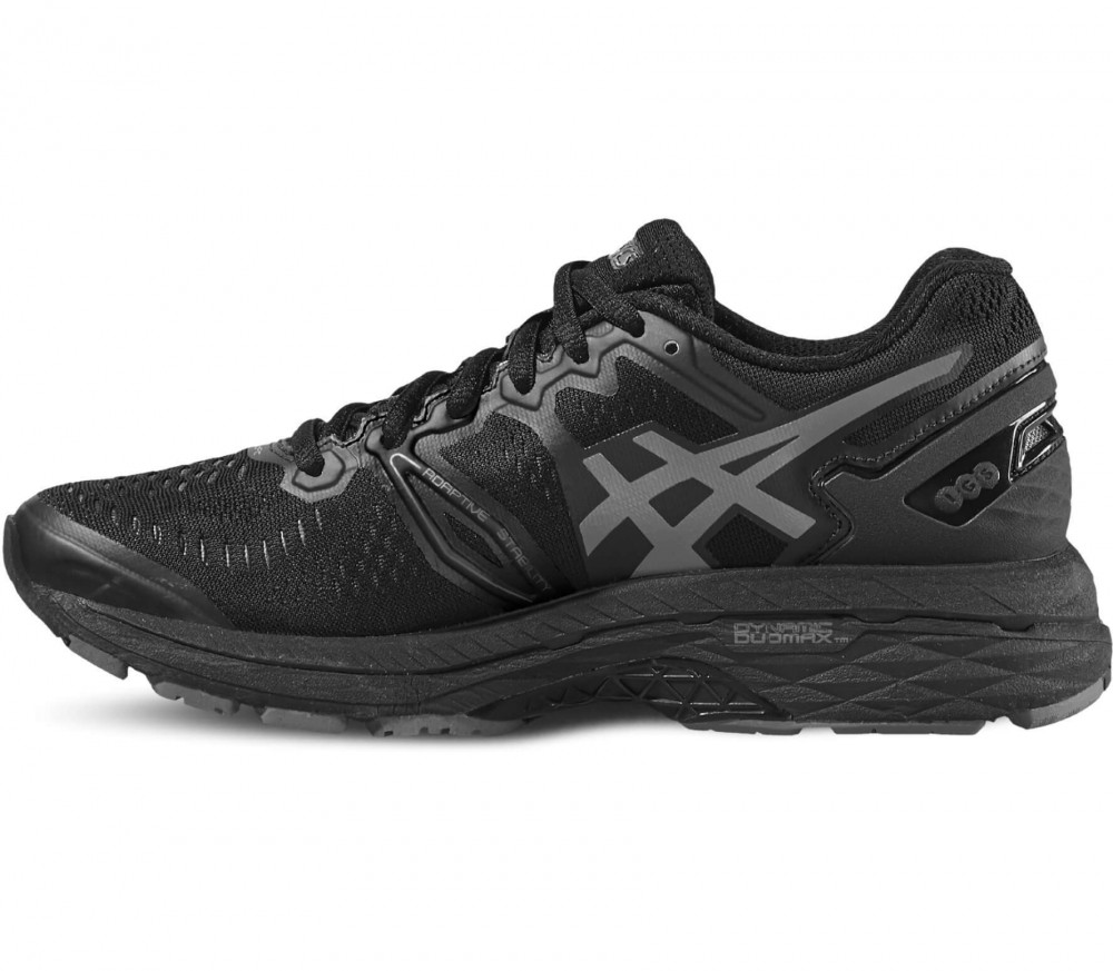asics gel kayano 23 damen laufschuh schwarz grau im online shop von keller sports kaufen. Black Bedroom Furniture Sets. Home Design Ideas