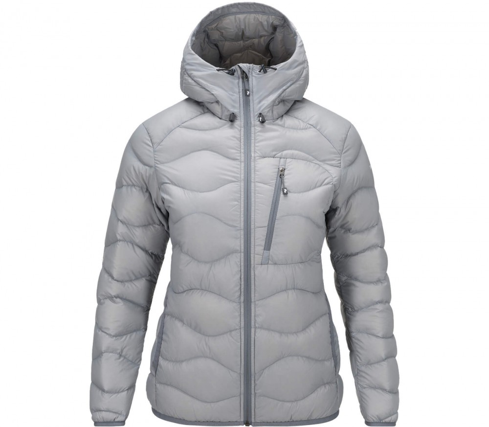 peak performance helium hoodie damen daunenjacke grau im online shop von keller sports kaufen. Black Bedroom Furniture Sets. Home Design Ideas