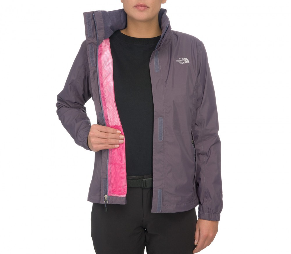 the north face resolve damen regenjacke grau blau im online shop von keller sports kaufen. Black Bedroom Furniture Sets. Home Design Ideas