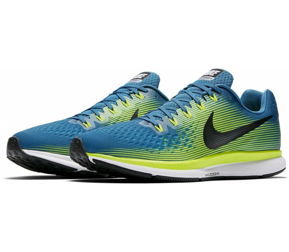 nike air zoom pegasus 34 herren laufschuh blau gr n im. Black Bedroom Furniture Sets. Home Design Ideas