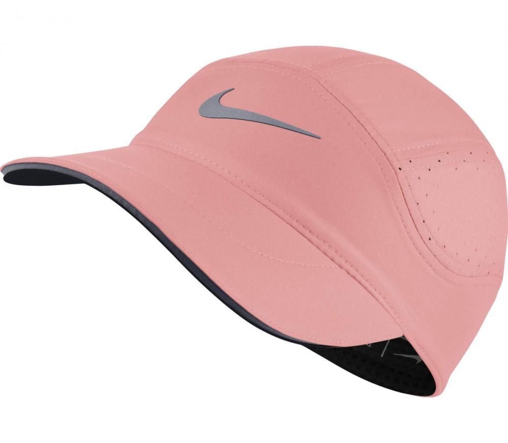 nike aerobill damen laufcap rosa grau im online shop von keller sports kaufen. Black Bedroom Furniture Sets. Home Design Ideas