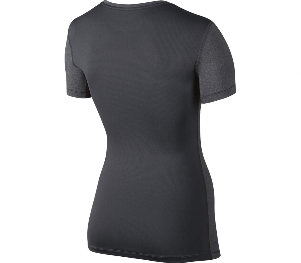 Nike - Pro Cool Shortsleeve Damen Trainingstop (grau/schwarz)