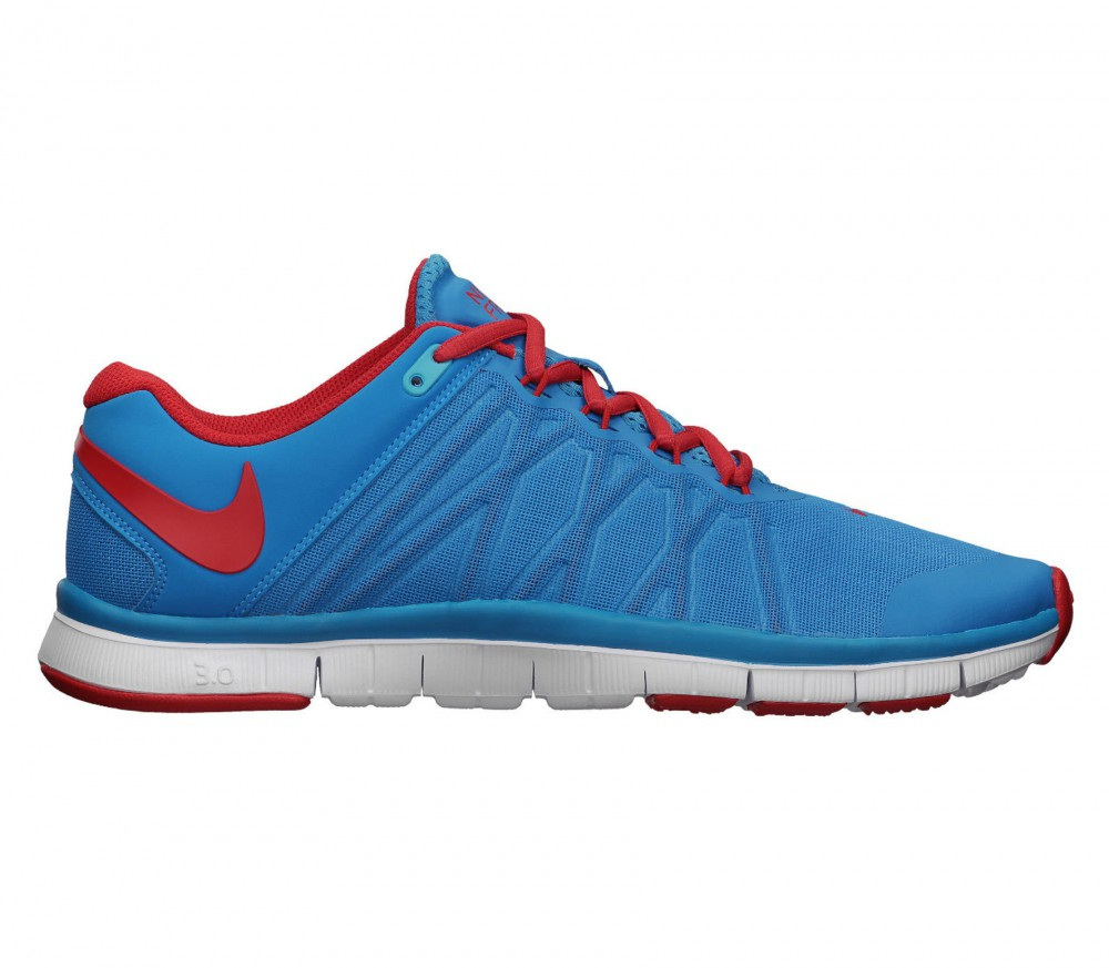 nike free trainer 3 0 herren trainingsschuh blau rot. Black Bedroom Furniture Sets. Home Design Ideas