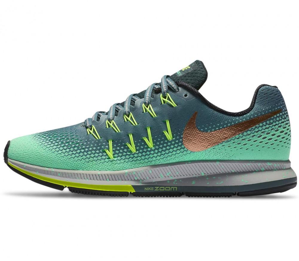Nike - Air Zoom Pegasus 33 Shield Damen Laufschuh (dunkelgrün/hellgrün)