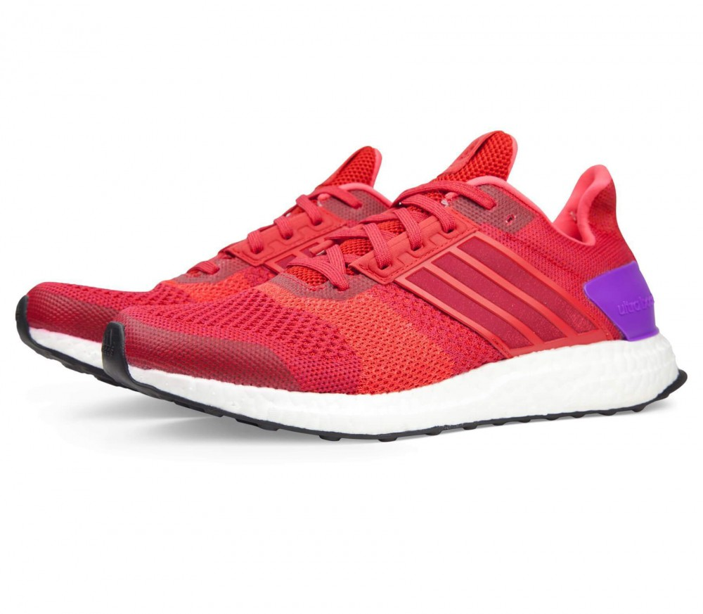 adidas ultra boost st damen laufschuh rot lila im. Black Bedroom Furniture Sets. Home Design Ideas