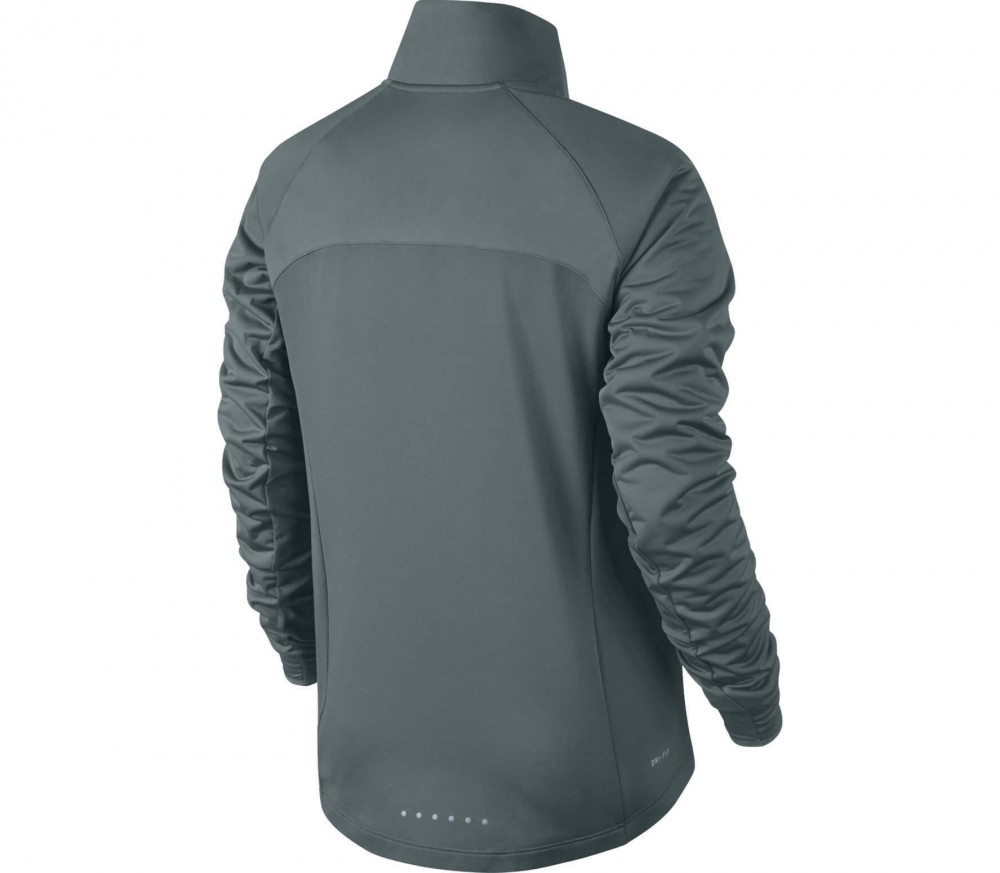 Nike - Shield Full-Zip Damen Laufjacke (dunkelgrün)