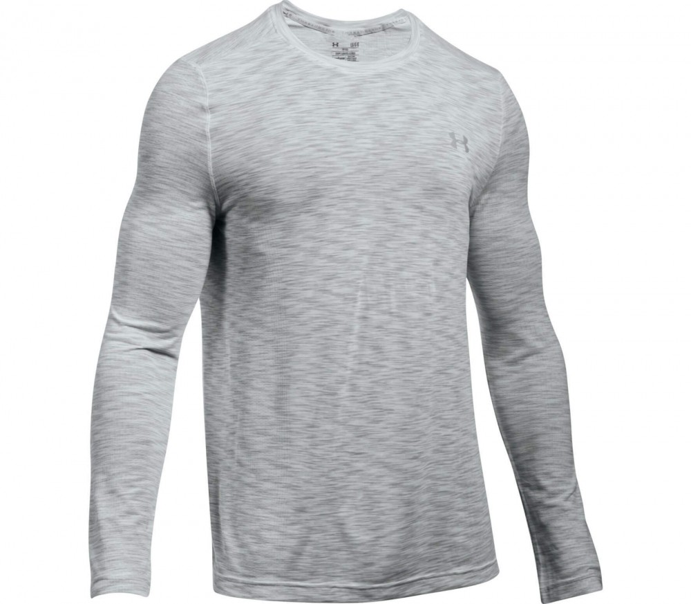 Under Armour - Threadborne Knit Longsleeve Herren Trainingsshirt (hellgrau)