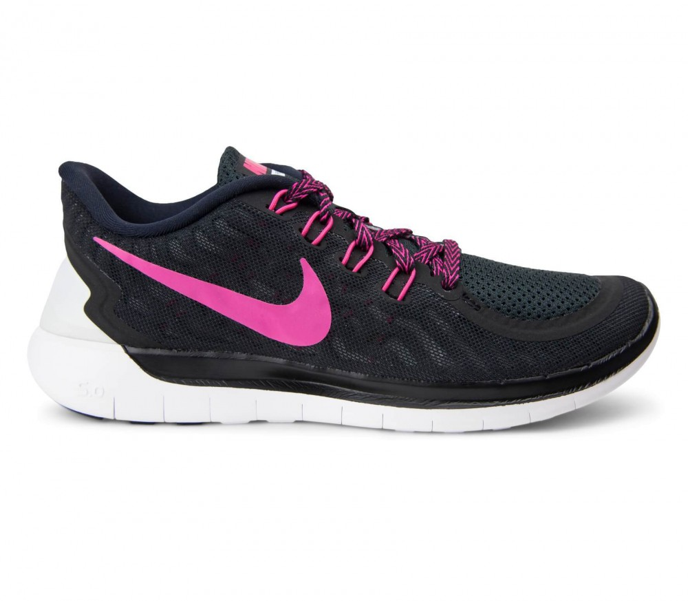 nike free 5 0 damen laufschuh schwarz pink im online. Black Bedroom Furniture Sets. Home Design Ideas