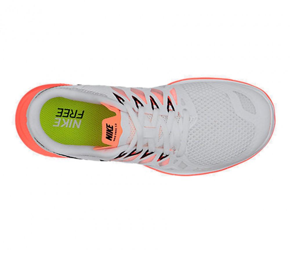Nike Free 5.0 Damen Silber Weiß
