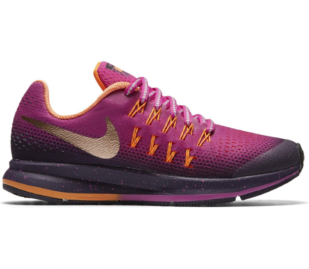 Nike - Zoom Pegasus 33 Shield (GS) Junior Laufschuh (dunkellila/pink)