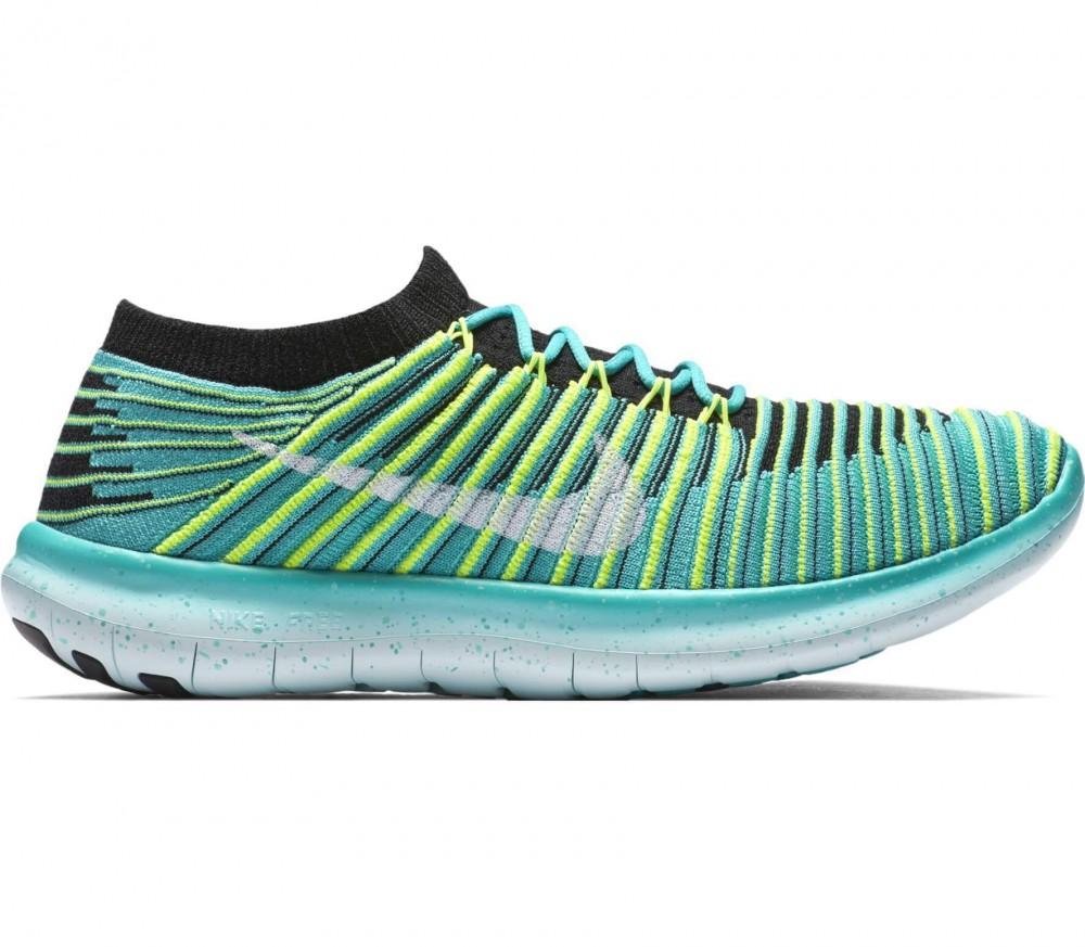 Nike - Free Run Motion Flyknit Damen Laufschuh (hellgrün/weiß)