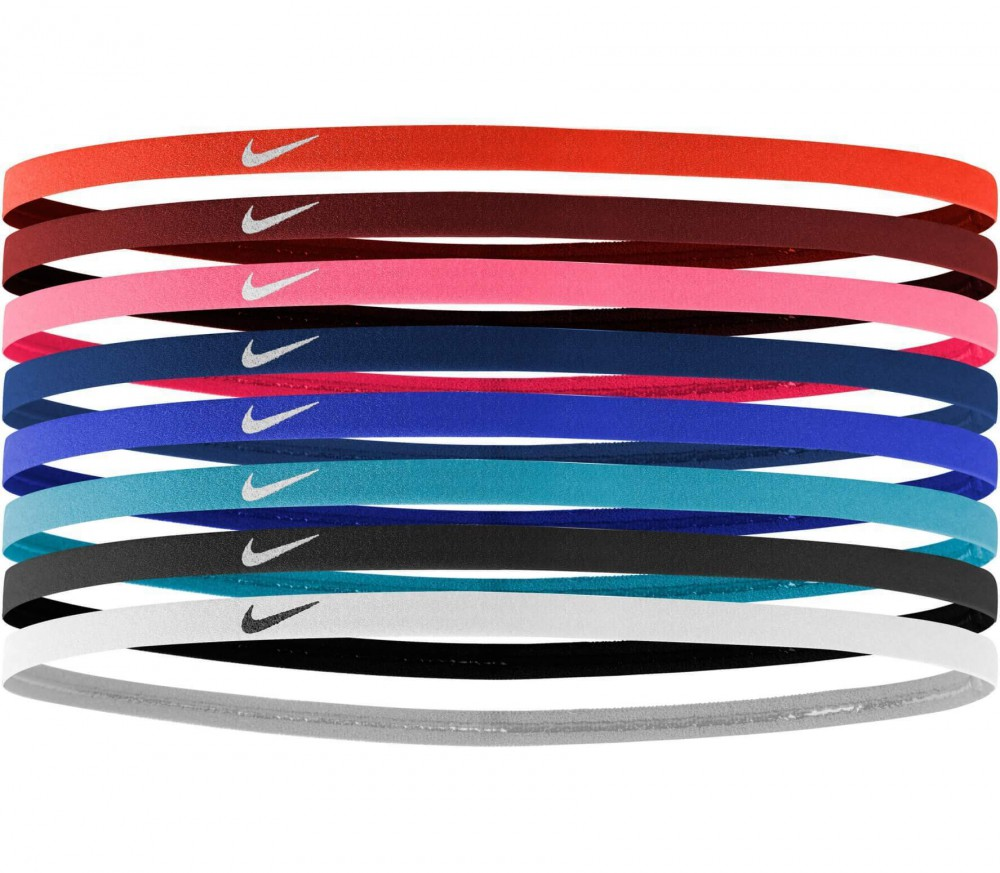 Nike - Skinny Hairbands 8er Pack (blau/rot)