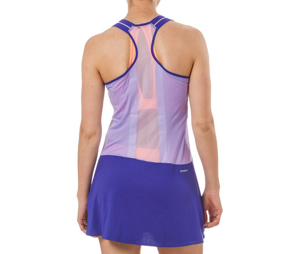 Adidas - Adizero Damen Tenniskleid (blau/orange) im Online Shop von Keller Sports kaufen