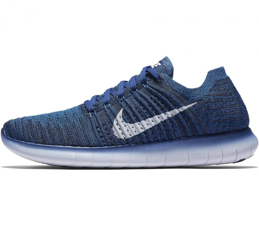 Nike - Free RN Flyknit Herren Laufschuh (blau/weiß)