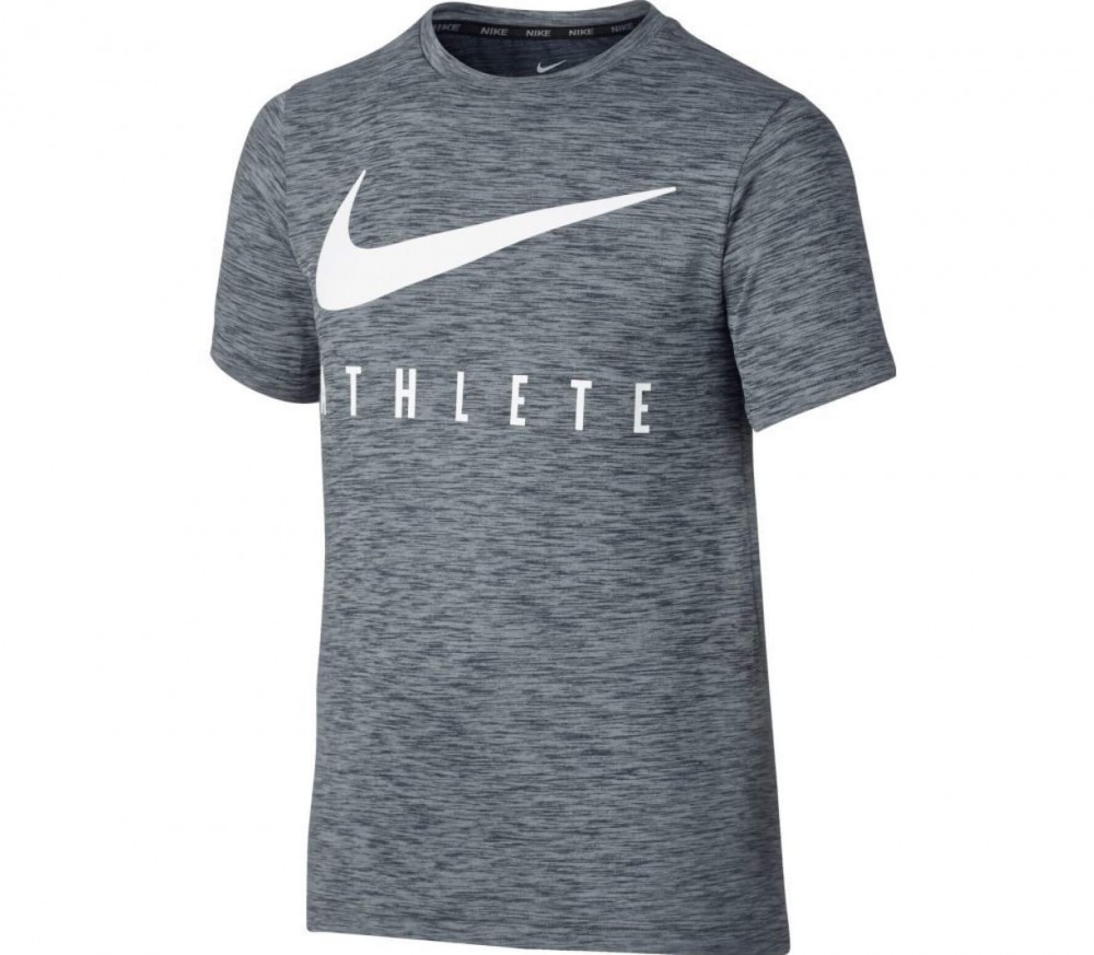 Nike - Dry Shortsleeve Junior Trainingstop (grau/weiß)