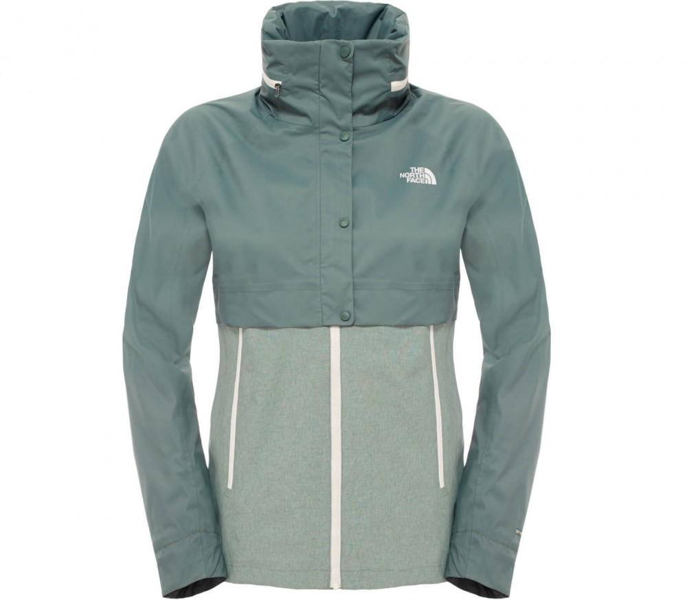 the north face kayenta damen regenjacke hellgr n im online shop von keller sports kaufen