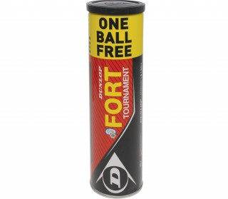 Dunlop - Fort Tournament - 4 Bälle  (3 + 1 Ball Gratis)