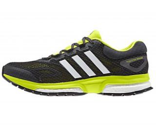 Adidas - Response Boost men's running shoes (black/light green)