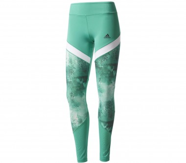 Adidas - WOW Drop 4 Damen Trainingstight (grün/weiß)