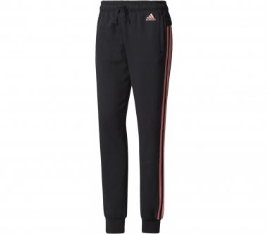 Adidas - Essential 3 Stripes Damen Trainingshose (schwarz/rosa)