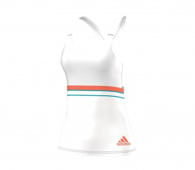 Adidas - All Premium Strappy Damen Tennistankshirt (weiß)