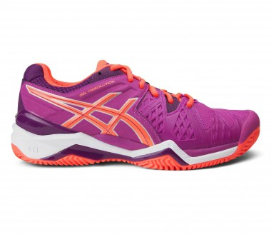 Asics - Gel-Resolution 6 Clay Damen Tennisschuh (lila/orange)