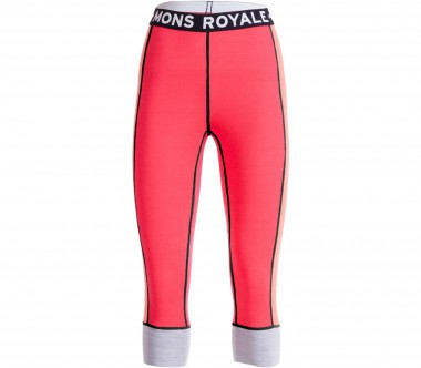 Mons Royale - Alagna 3/4 Damen Merinotight (orange/rot)