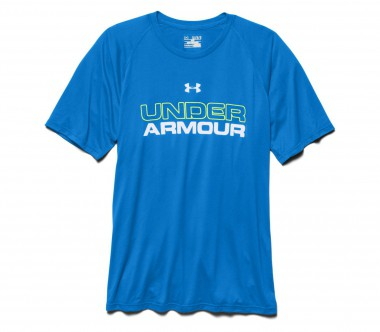 Under Armour - Core Wordmark Herren Trainingsshirt (blau/weiß)
