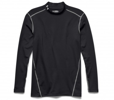 Under Armour - Coldgear Armour Mock Herren Trainingsshirt (schwarz)