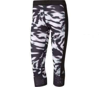 Adidas - Techfit Capri Print 3 Damen Trainingstight (schwarz/weiß)