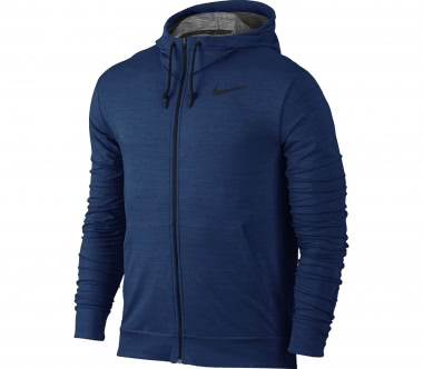 Nike - Dry Full-Zip Herren Trainingshoodie (blau)