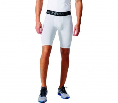 Adidas - Techfit Base Tight Herren Trainingsshort (weiß)